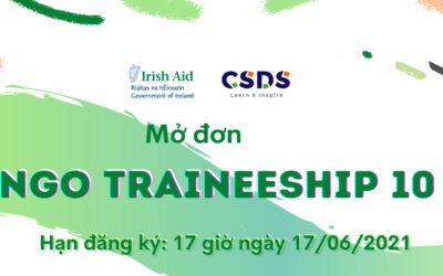 Tuyển Thực tập sinh – Chương trình NGO Traineeship 10