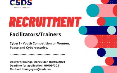 Facilitators/Trainers Recruitment